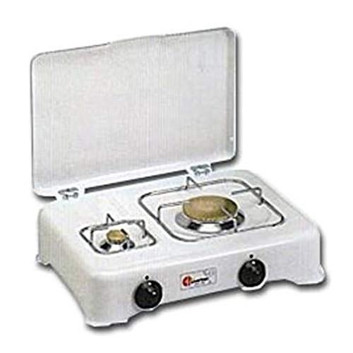 Fornello 2 fuochi a gas (GPL) Parker - griglia in acciaio cromato