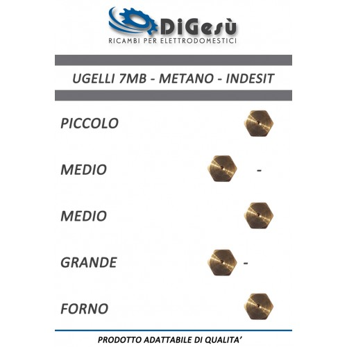 Serie ugelli 7MB Metano Indesit