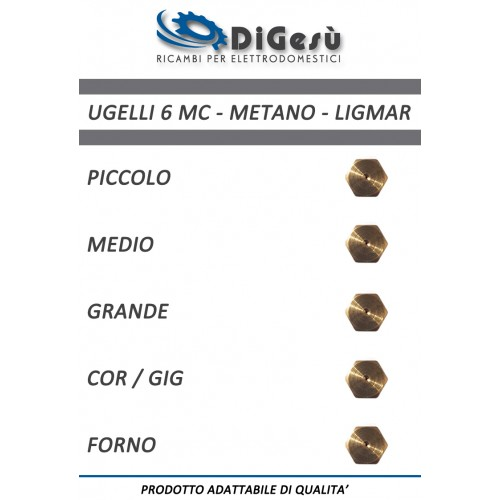 Serie ugelli 6MC Metano